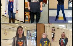 PHS students and teachers dressed up as superheros to stand against drug abuse.