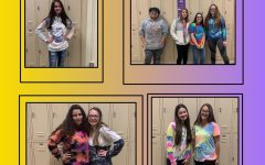 Students wear tie-dye to fight against drug abuse.