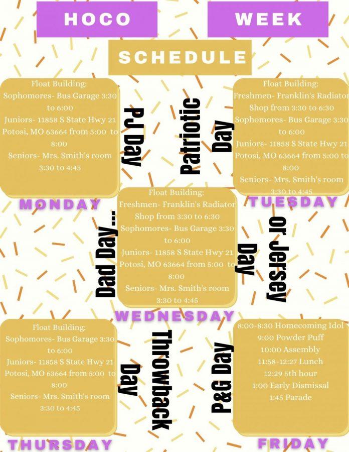 Homecoming Schedule