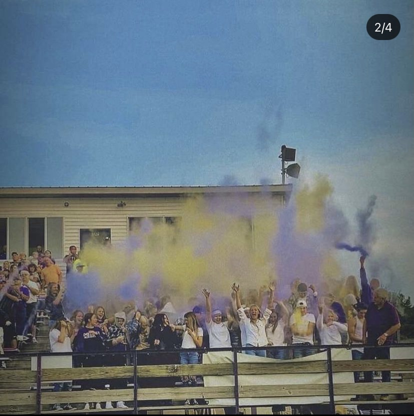 Football Homecoming game 2021, student section.